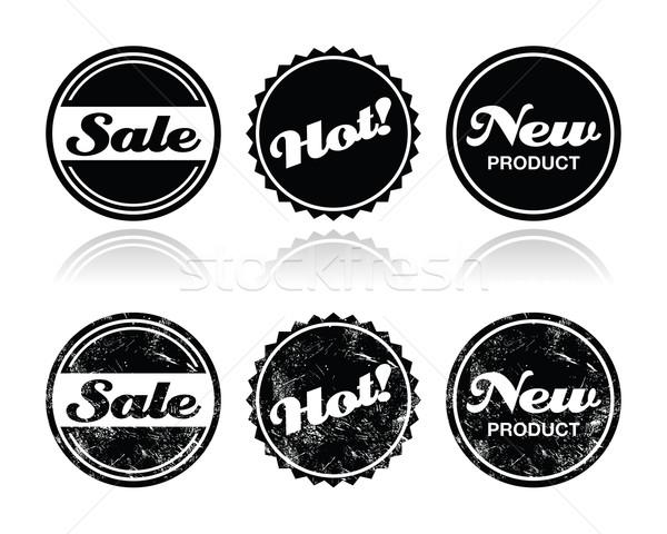 Stock photo: Shopping retro badges - sale, new, hot product