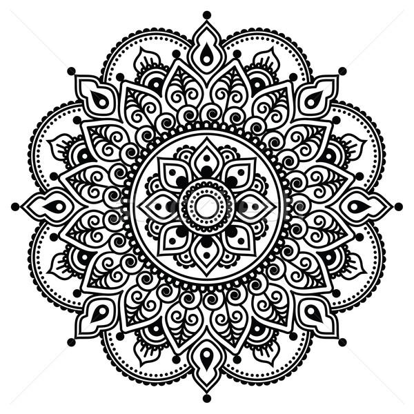 indian henna tattoo muster vektor ornament vektor grafiken agnieszka murphy. Black Bedroom Furniture Sets. Home Design Ideas