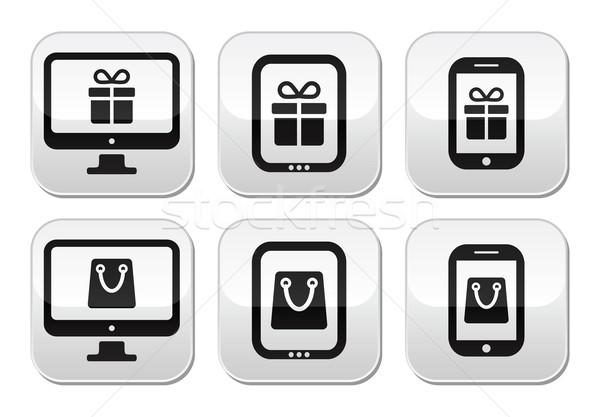 Shopping online, internet shop buttons set Stock photo © RedKoala