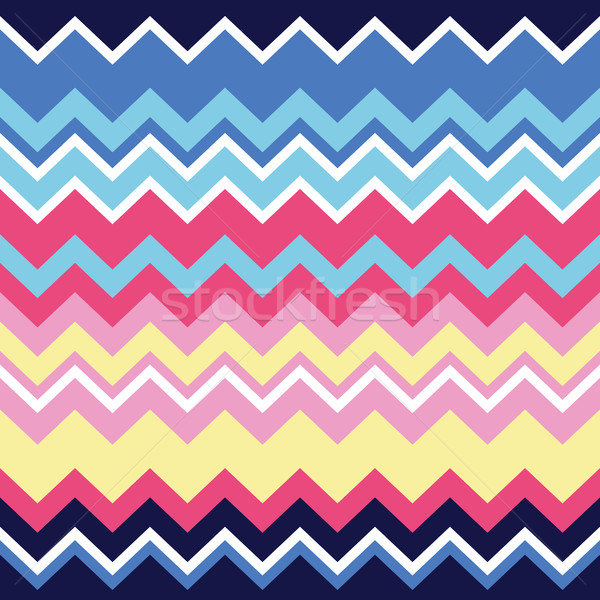 Tribal aztec zigzag seamless pattern, print Stock photo © RedKoala