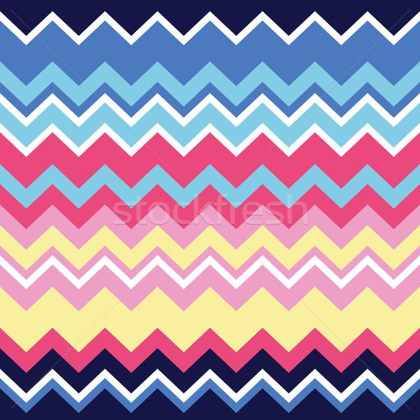Tribal aztec zigzag seamless pattern, print Stock photo © RedKoala