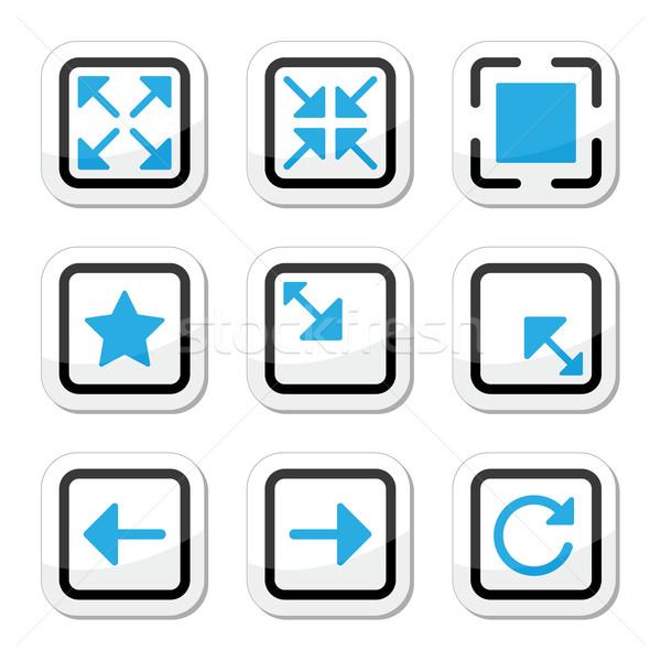 Web page screen size icons set Stock photo © RedKoala