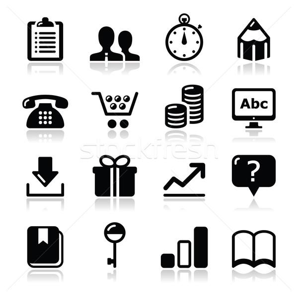 Website internet icons set - vector Stock photo © RedKoala
