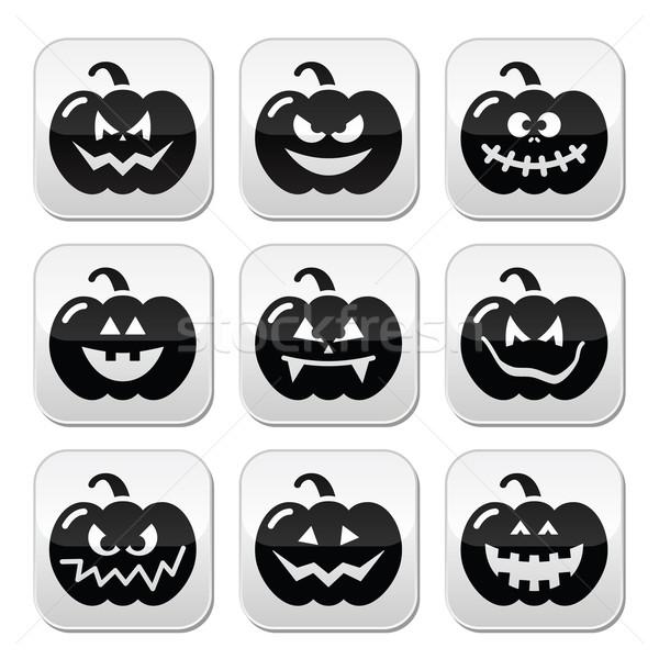 Halloween vektor gombok szett ünnepel sütőtök Stock fotó © RedKoala