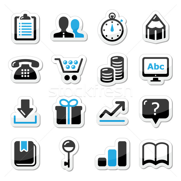 Web internet pictogrammen ingesteld vector moderne toepassing Stockfoto © RedKoala