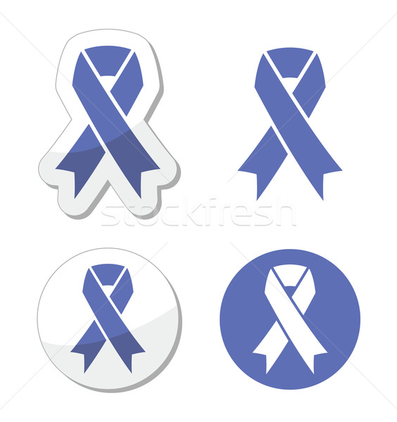 Periwinkle ribbons set - eating disorder symbol Stock photo © RedKoala