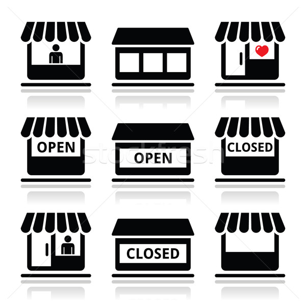 Photo stock: Magasin · magasin · supermarché · vecteur · détail