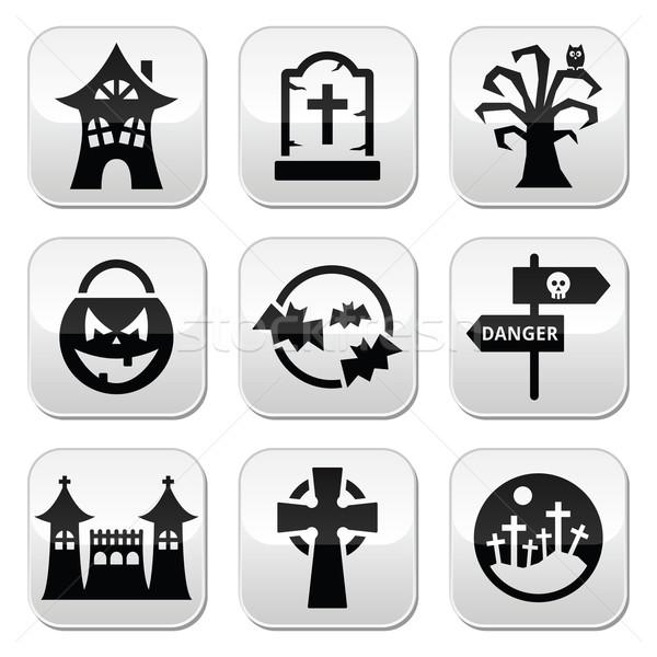Halloween vector buttons set  Stock photo © RedKoala