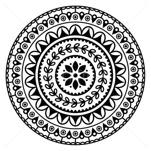Mandala, Indian inspired round geometric pattern Stock photo © RedKoala