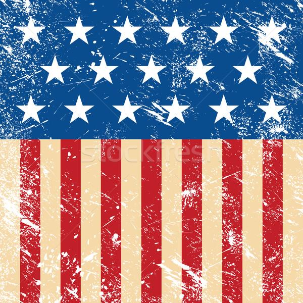 ABD Retro bayrak Amerika mavi kampanya Stok fotoğraf © RedKoala