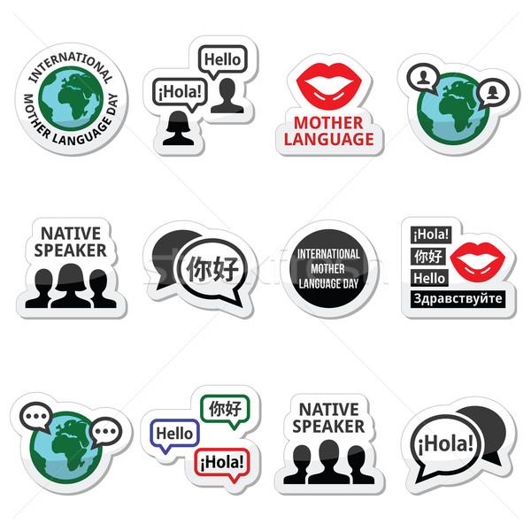 Internacional mãe linguagem dia vetor Foto stock © RedKoala