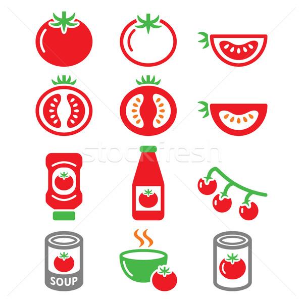 Foto d'archivio: Rosso · pomodoro · ketchup · crema · di · pomodoro · vettore