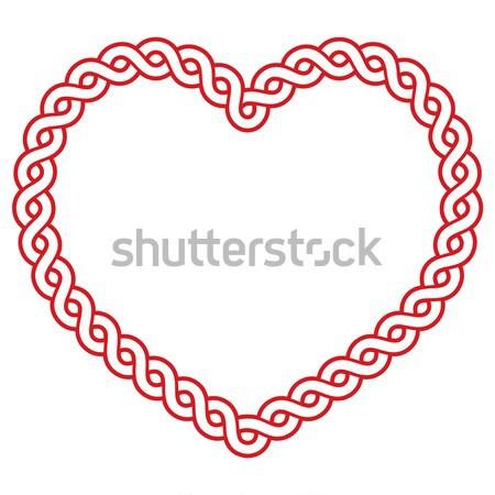 кельтской шаблон красный формы сердца любви День Святого Патрика Сток-фото © RedKoala