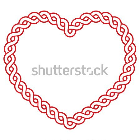 Celtic patroon Rood hartvorm liefde St Patrick's Day Stockfoto © RedKoala