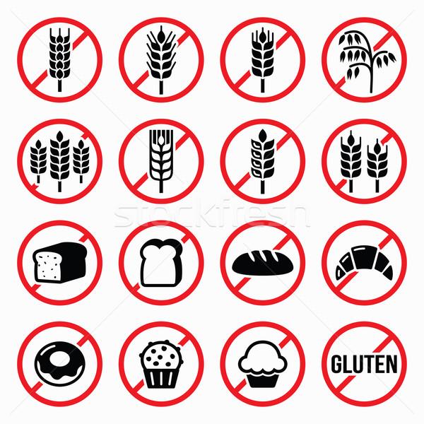 Gluténmentes feliratok nem búza kenyér torta Stock fotó © RedKoala