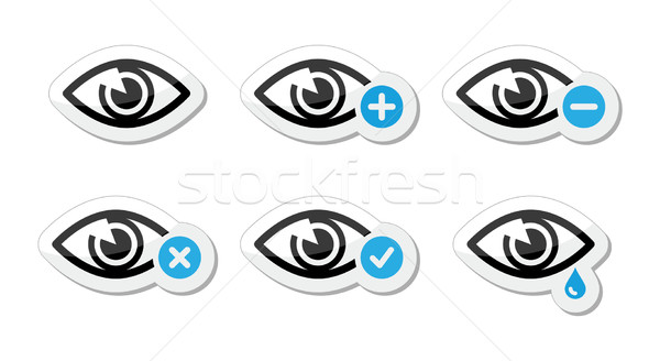 Eye sight icons set - vector Stock photo © RedKoala
