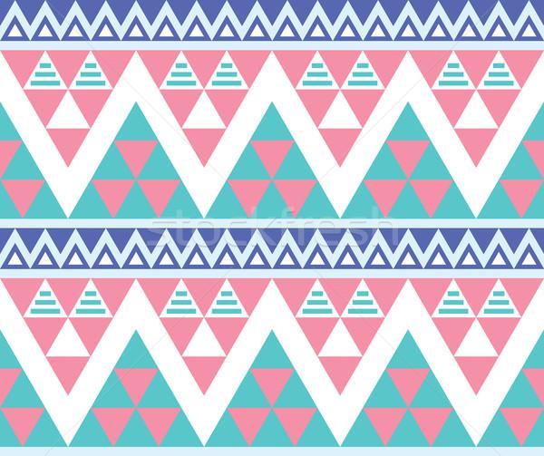 Tribal aztec colorful seamless pattern Stock photo © RedKoala