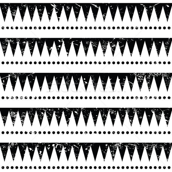 tribal muster retro grunge stil vektor grafiken agnieszka murphy redkoala. Black Bedroom Furniture Sets. Home Design Ideas
