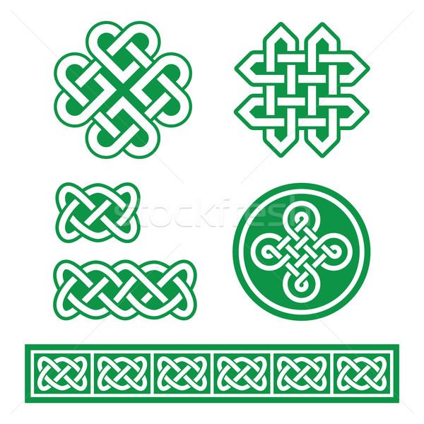 Celtic Irish patterns and braids - St Patrick's Day Stock photo © RedKoala