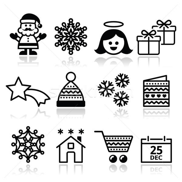 Christmas, Xmas celebrate icons set  Stock photo © RedKoala