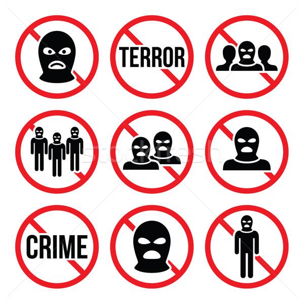 Stoppen terrorisme geen criminaliteit terrorist groep Stockfoto © RedKoala