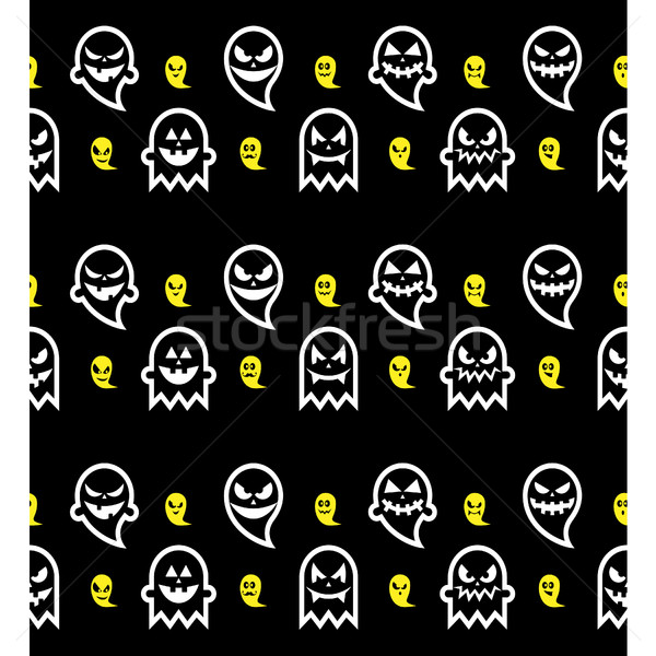 бесшовный Хэллоуин Ghost шаблон вектора Сток-фото © RedKoala