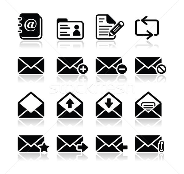 Email mailbox vector icons set Stock photo © RedKoala