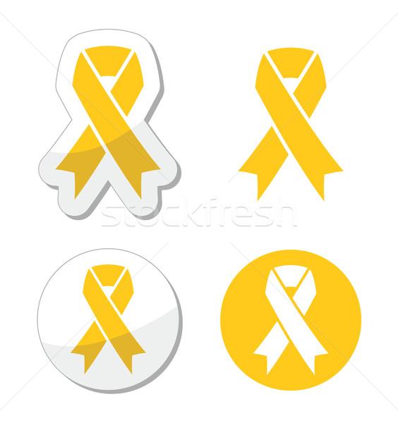 Amarelo fita apoiar suicídio prevenção Foto stock © RedKoala