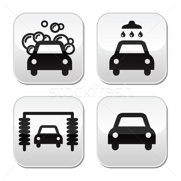 Car wash buttons set - vector Stock photo © RedKoala