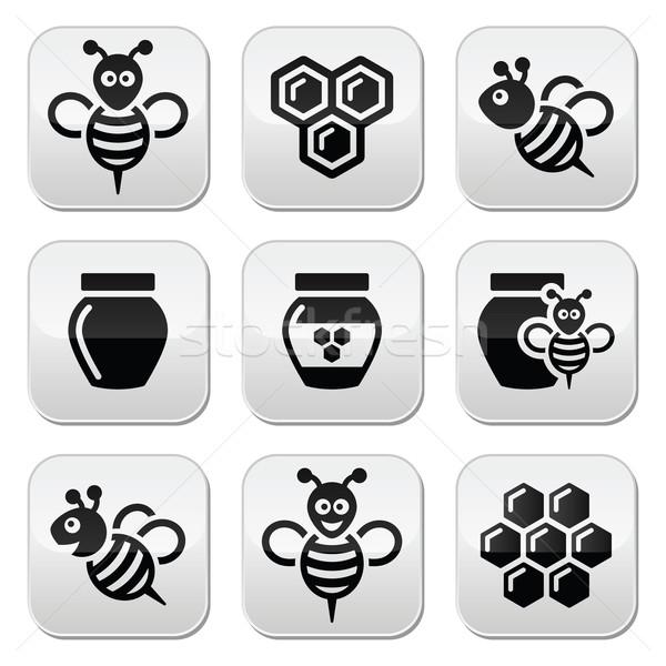 蜂 はちみつ ベクトル ハニカム 反射 ストックフォト © RedKoala