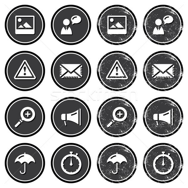 Website navigation icons on retro labels set Stock photo © RedKoala