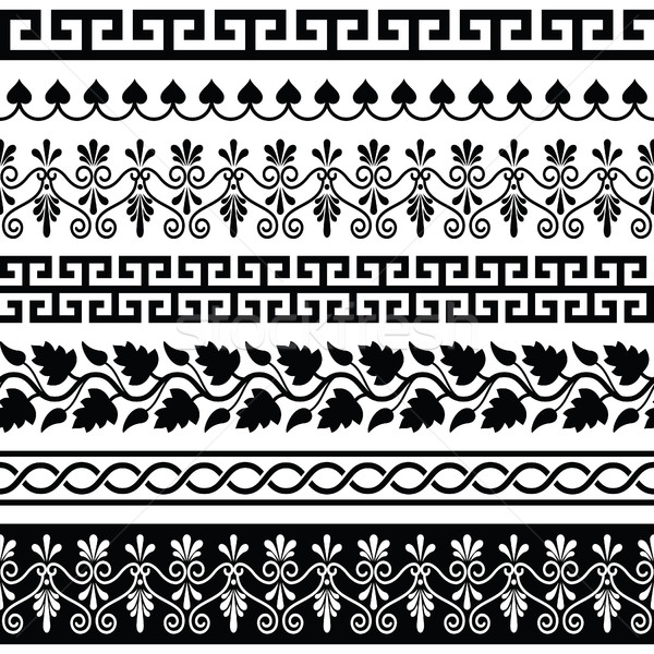 Ancient Greek pattern - seamless set of antique borders from Greece  Stock photo © RedKoala