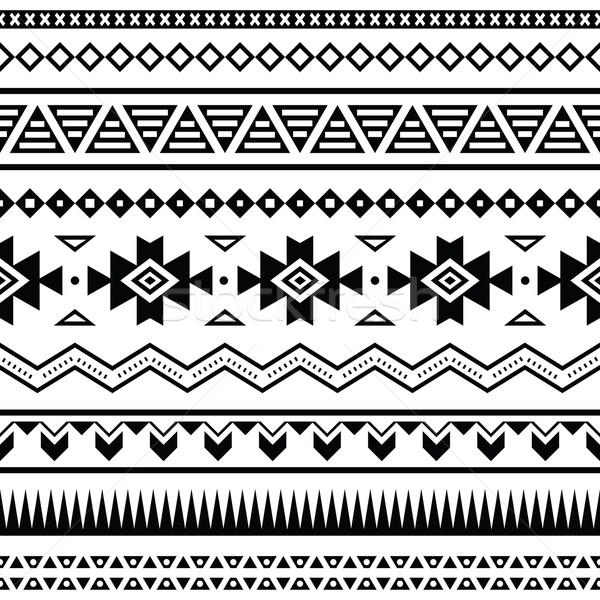 Aztec mexican seamless pattern Stock photo © RedKoala