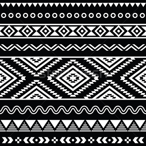 Vector folk seamless aztec ornament, ethnic pattern Stock photo © RedKoala