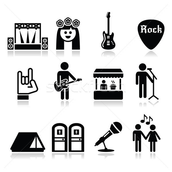 Festival di musica vivere concerto vettore musica Foto d'archivio © RedKoala