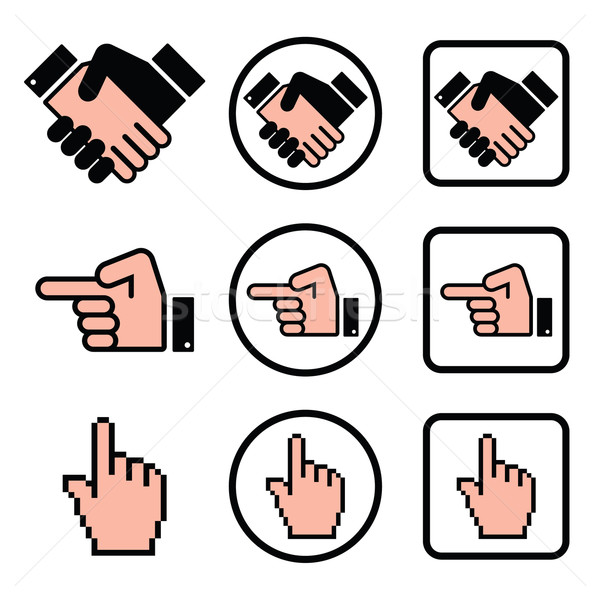 Aperto de mão indicação mão cursor Foto stock © RedKoala