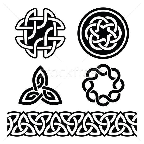 кельтской ирландский структур вектора День Святого Патрика набор Сток-фото © RedKoala