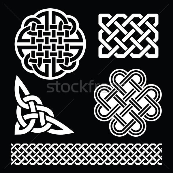 кельтской белый структур черный День Святого Патрика Сток-фото © RedKoala