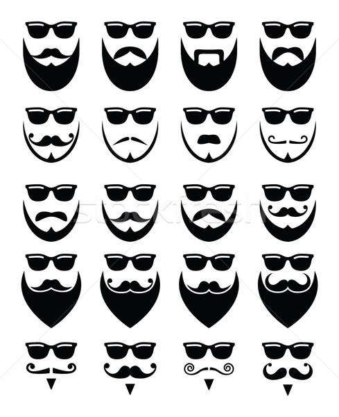 Foto d'archivio: Barba · occhiali · da · sole · diverso · stili