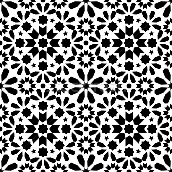Geométrico cuadros diseno sin costura negro Foto stock © RedKoala