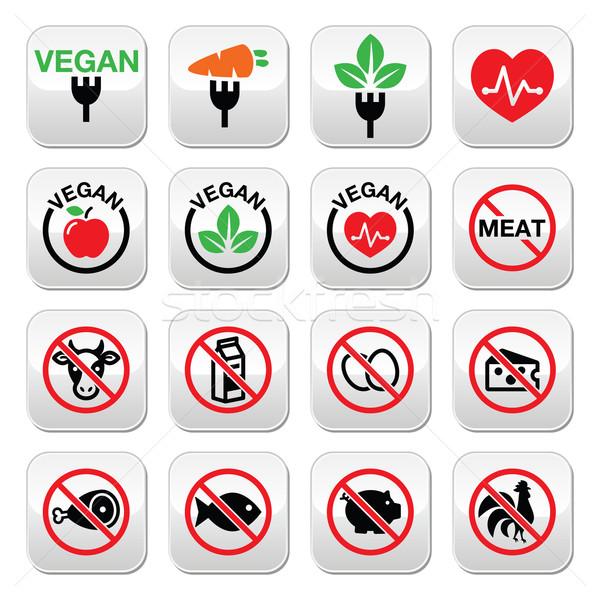 Vegan pas viande végétarien lactose libre Photo stock © RedKoala