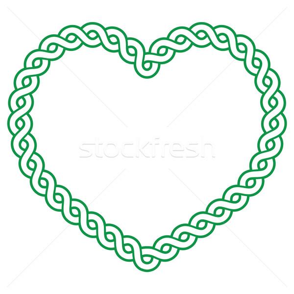 ケルト パターン 緑 心臓の形態 愛 聖パトリックの日 ストックフォト © RedKoala