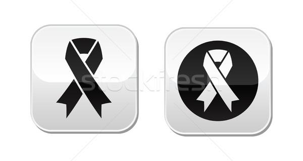 Vector set of ribbons symbols for breast cancer awareness Stock photo © RedKoala