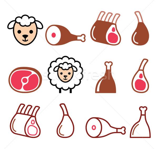 Foto stock: Cordeiro · carne · em · costelas · comida