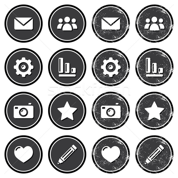 Website menu navigation retro grunge labels Stock photo © RedKoala