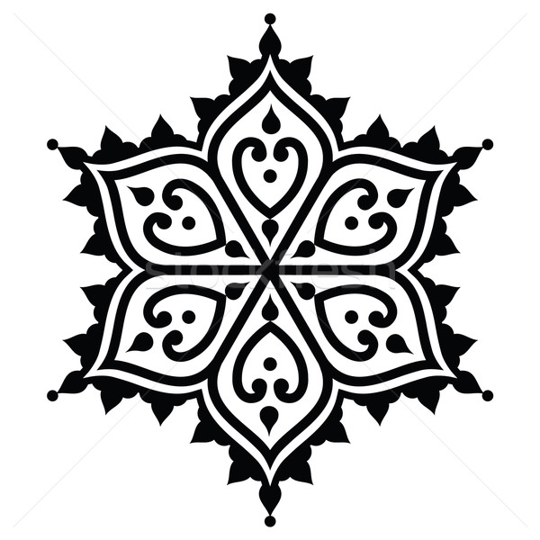 Mehndi, Indian Henna tattoo desgin - star shape Stock photo © RedKoala