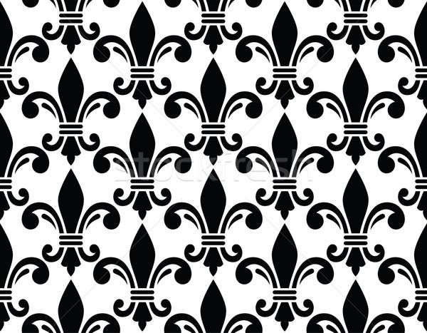 French style seamless pattern - Fleur de lis symbol Stock photo © RedKoala