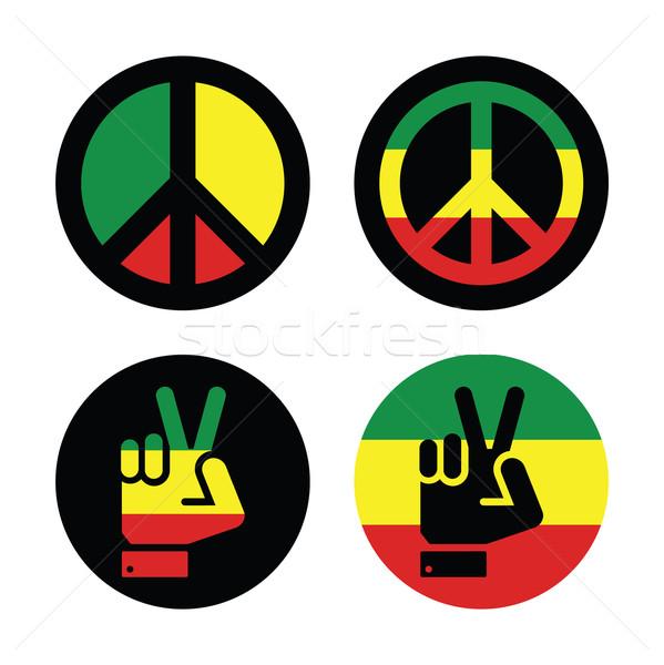 Stockfoto: Vrede · vector · symbolen · geïsoleerd