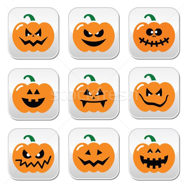 Halloween pumpkin vector buttons set  Stock photo © RedKoala