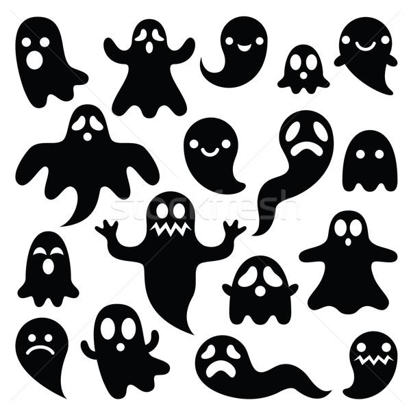 Assustador fantasmas projeto halloween Foto stock © RedKoala